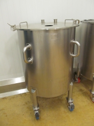1 -    140 Gallon Portable Stainless Steel Kettle