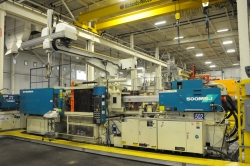 1 - Mitsubishi  500MSJ-60  496-US Ton 52.2-Oz Injection Molding Machine